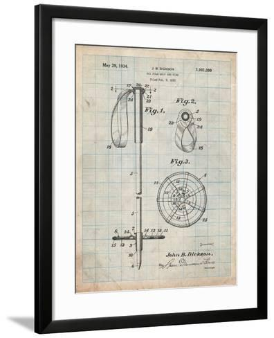 Ski Pole Patent-Cole Borders-Framed Art Print