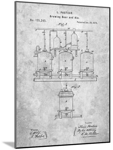 Brewing Beer Patent-Cole Borders-Mounted Art Print