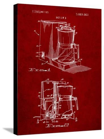 Coffee Maker Patent-Cole Borders-Stretched Canvas Print