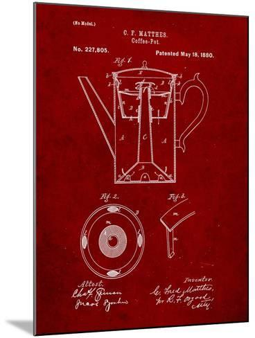 Vintage Coffe Pot Patent-Cole Borders-Mounted Art Print