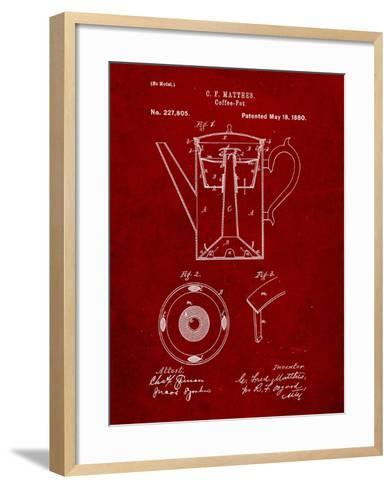 Vintage Coffe Pot Patent-Cole Borders-Framed Art Print