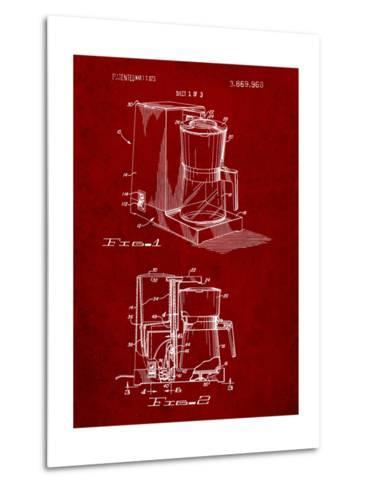 Coffee Maker Patent-Cole Borders-Metal Print