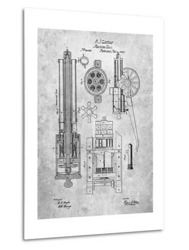 Machine Gun Patent-Cole Borders-Metal Print