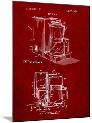 Coffee Maker Patent-Cole Borders-Mounted Art Print