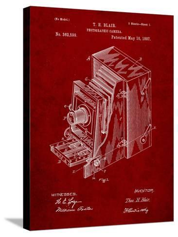 Photographic Camera 1887 Patent-Cole Borders-Stretched Canvas Print