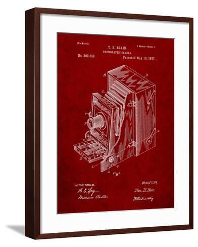 Photographic Camera 1887 Patent-Cole Borders-Framed Art Print
