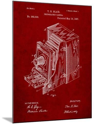 Photographic Camera 1887 Patent-Cole Borders-Mounted Art Print