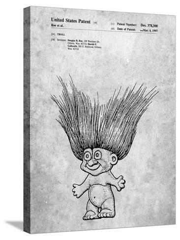 Troll Doll Patent-Cole Borders-Stretched Canvas Print