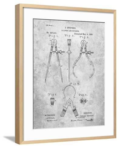Caliper And Divider Tool Patent-Cole Borders-Framed Art Print