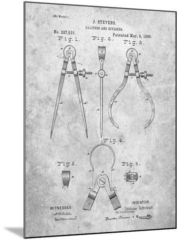Caliper And Divider Tool Patent-Cole Borders-Mounted Art Print