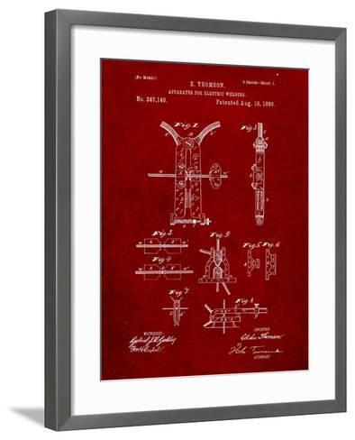 Welding Machine Patent-Cole Borders-Framed Art Print
