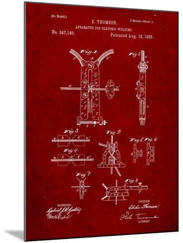 Welding Machine Patent-Cole Borders-Mounted Art Print
