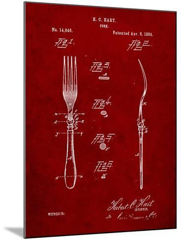 Dinner Fork Patent-Cole Borders-Mounted Art Print