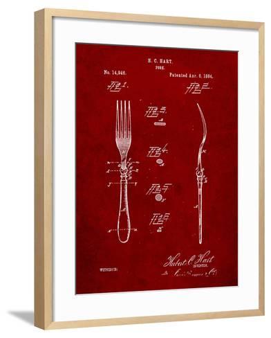 Dinner Fork Patent-Cole Borders-Framed Art Print