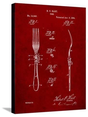 Dinner Fork Patent-Cole Borders-Stretched Canvas Print