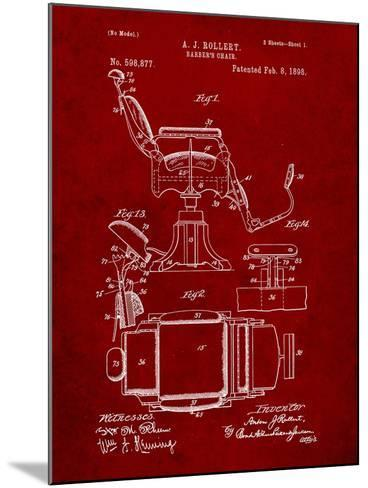 Barber's Chair Patent-Cole Borders-Mounted Art Print