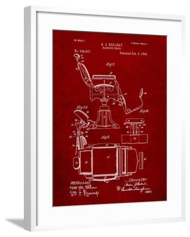 Barber's Chair Patent-Cole Borders-Framed Art Print