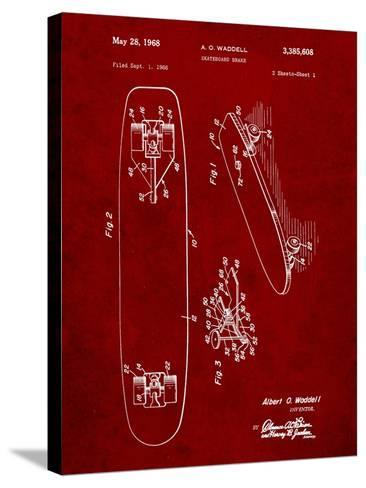 Vintage Skateboard Patent-Cole Borders-Stretched Canvas Print