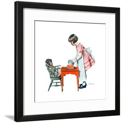 ?See How Easy It Is?-Norman Rockwell-Framed Art Print