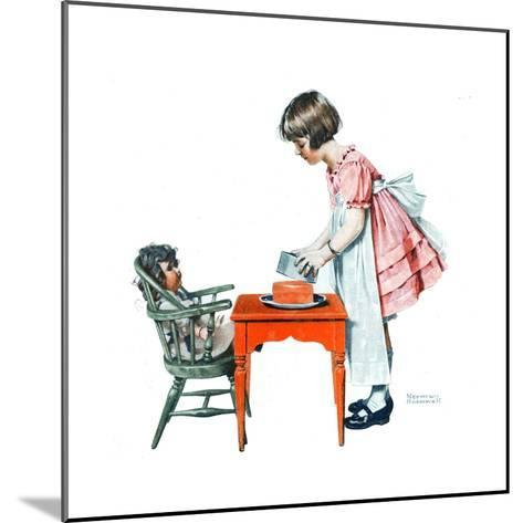 ?See How Easy It Is?-Norman Rockwell-Mounted Giclee Print