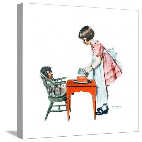 ?See How Easy It Is?-Norman Rockwell-Stretched Canvas Print