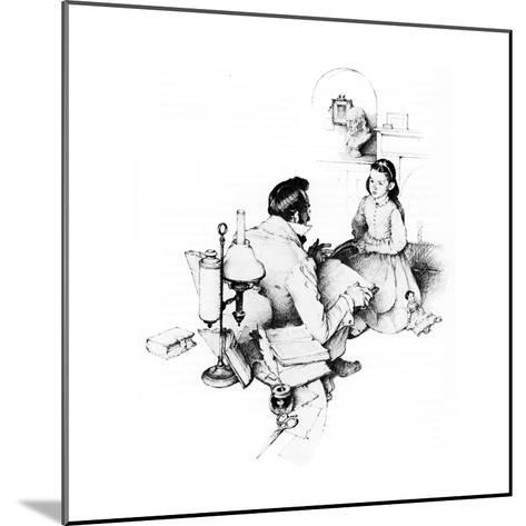 The Tutor (or The Tutor)-Norman Rockwell-Mounted Giclee Print