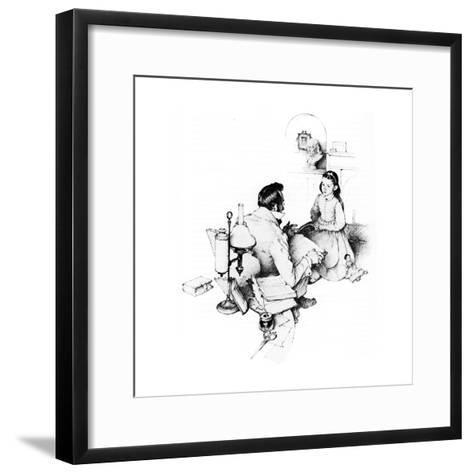 The Tutor (or The Tutor)-Norman Rockwell-Framed Art Print