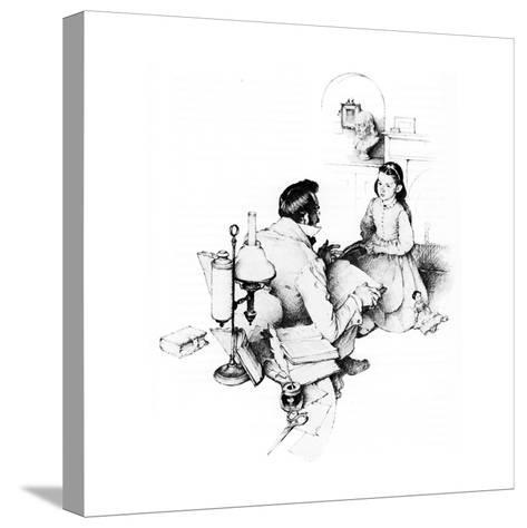 The Tutor (or The Tutor)-Norman Rockwell-Stretched Canvas Print