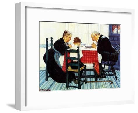Rural Vacation (or Family Grace)-Norman Rockwell-Framed Art Print
