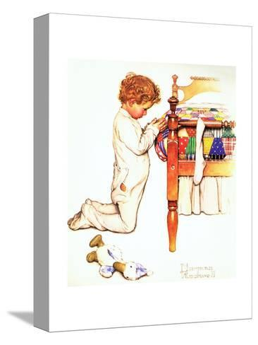 A Christmas Prayer-Norman Rockwell-Stretched Canvas Print