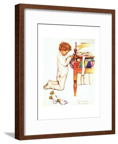 A Christmas Prayer-Norman Rockwell-Framed Art Print