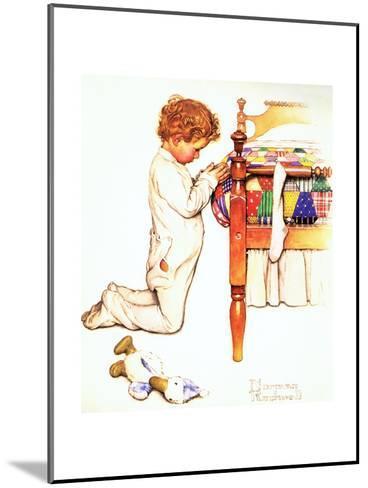 A Christmas Prayer-Norman Rockwell-Mounted Giclee Print