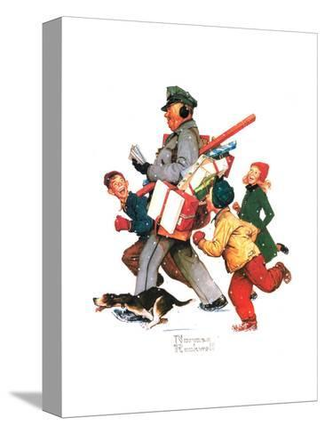 Jolly Postman-Norman Rockwell-Stretched Canvas Print