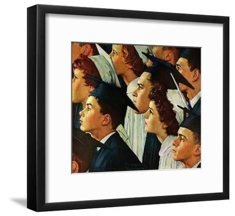 Bright Future Ahead-Norman Rockwell-Framed Art Print