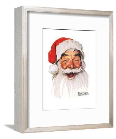 Santa Claus-Norman Rockwell-Framed Art Print