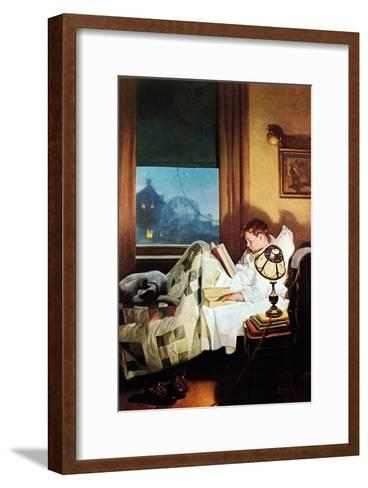 And Every Lad May Be Aladdin (or Reading in Bed)-Norman Rockwell-Framed Art Print