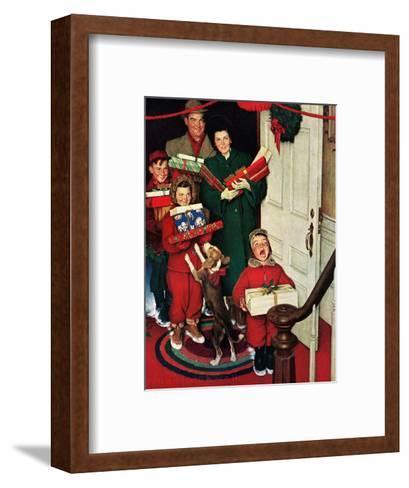 ?Merry Christmas, Grandma!?-Norman Rockwell-Framed Art Print