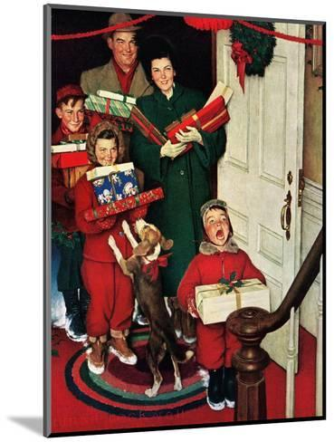 ?Merry Christmas, Grandma!?-Norman Rockwell-Mounted Giclee Print