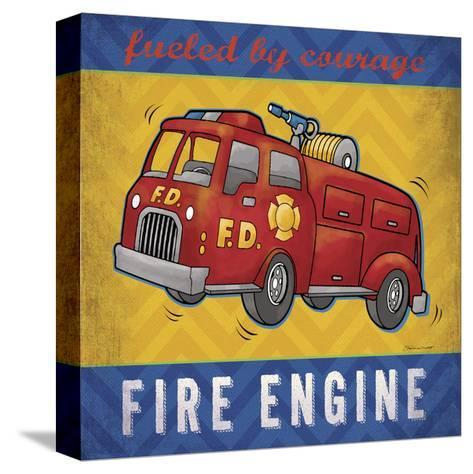 Fire Engine-Stephanie Marrott-Stretched Canvas Print