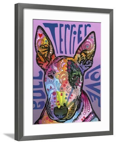 Bull Terrier Luv-Dean Russo-Framed Art Print
