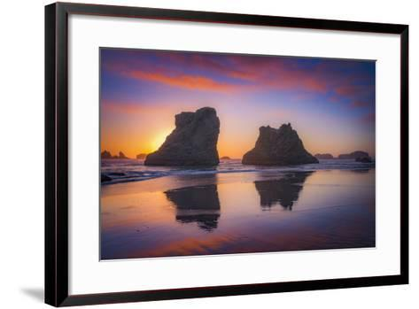 Bandon Sunset-Darren White Photography-Framed Art Print