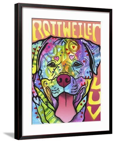 Rottweiler Luv-Dean Russo-Framed Art Print