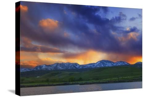Front Range Light Show-Darren White Photography-Stretched Canvas Print