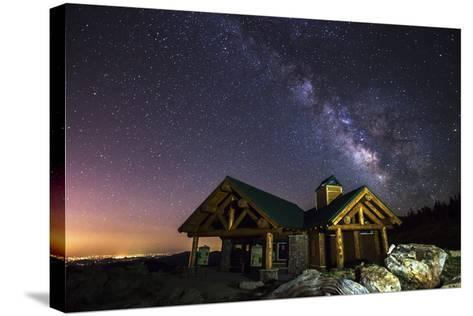 Mount Evans Visitor Cabin-Darren White Photography-Stretched Canvas Print