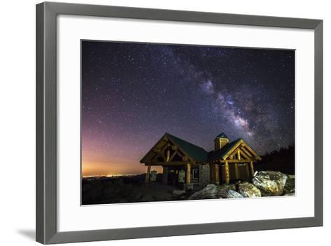 Mount Evans Visitor Cabin-Darren White Photography-Framed Art Print