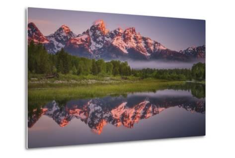 Teton Awakening-Darren White Photography-Metal Print