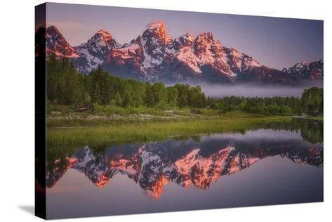 Teton Awakening-Darren White Photography-Stretched Canvas Print