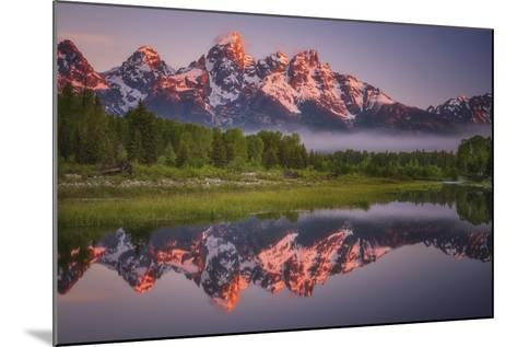 Teton Awakening-Darren White Photography-Mounted Photographic Print