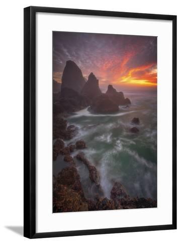 Christmas Sunset-Darren White Photography-Framed Art Print
