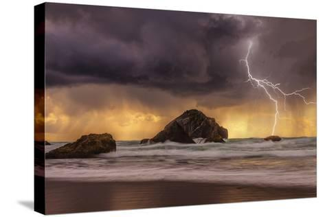 Storm at Face Rock1-Darren White Photography-Stretched Canvas Print